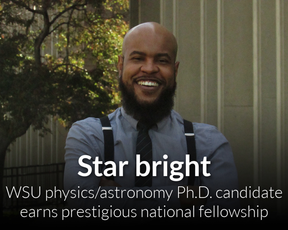 Persistence, community support leads WSU physicist to prestigious national fellowship
