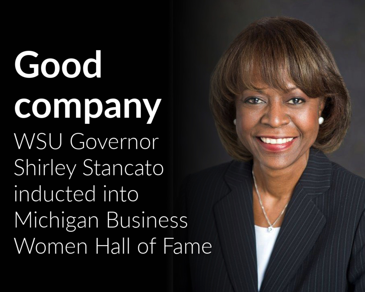 Board of Governor Shirley Stancato inducted into Michigan Business Women Hall of Fame