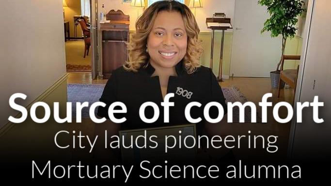 Mortuary Science alumna Sarah Brown-Derbah earns Spirit of Detroit Award