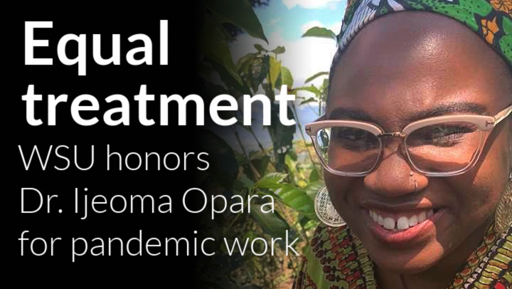 WSU Board of Governors awards Dr. Ijeoma Opara with Profiles in Warrior Strong honor