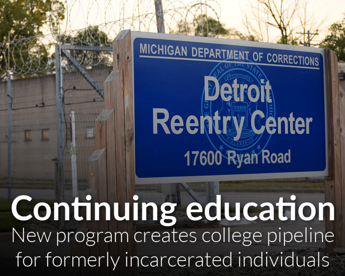 New Wayne State University program creates college pipeline for formerly incarcerated individuals
