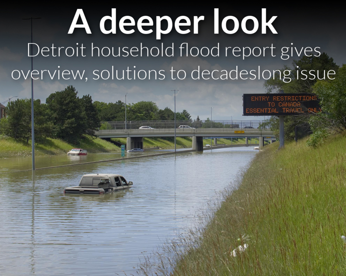 Detroit household flood report gives overview, solutions to decades-long issue