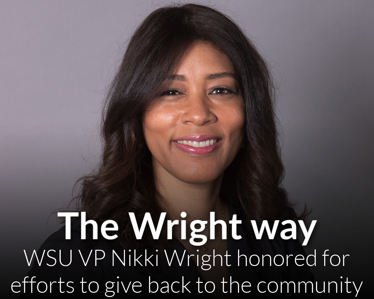 WSU VP Nikki Wright earns notice for efforts to give back