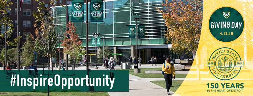 April 12 is Wayne State Giving Day! #InspireOpportunity