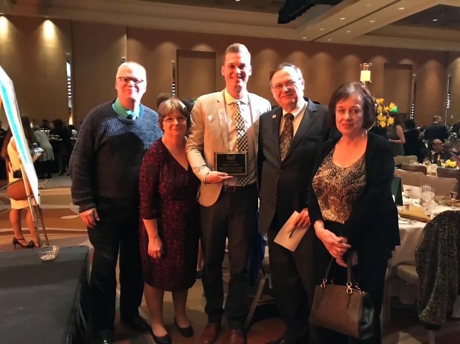 Nathan Nartker inaugural recipient of the Herman and Eva Blum Endowed Award