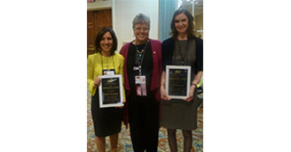 AECT Recognizes COE Faculty Member and  Students at Two Annual Conferences