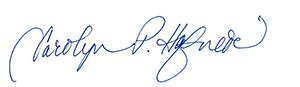Carolyn P. Hafner signature