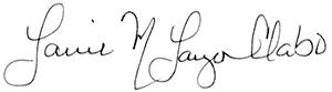 Laurie Lauzon-Clabo signature