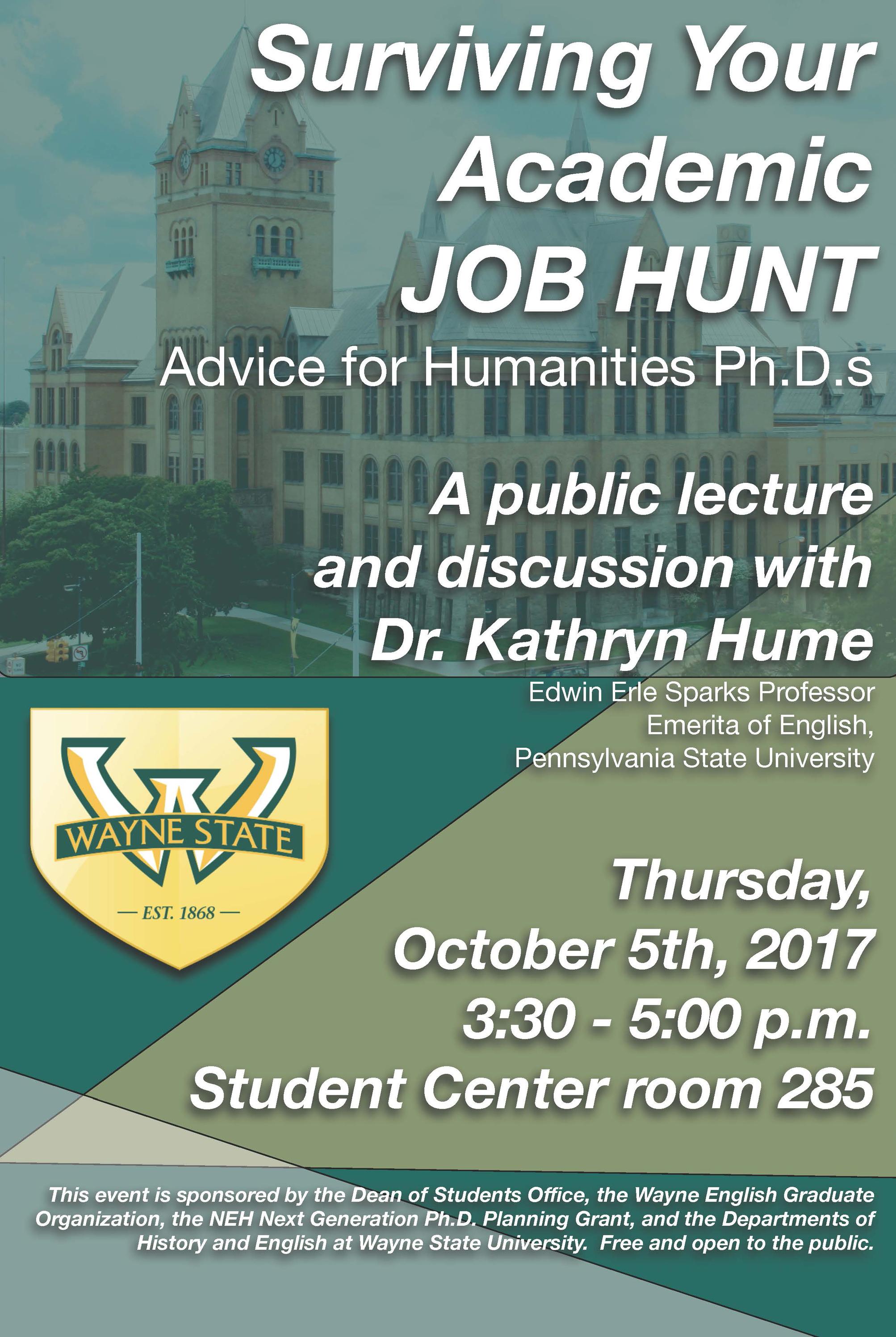 Oct. 5: Surviving your academic job hunt