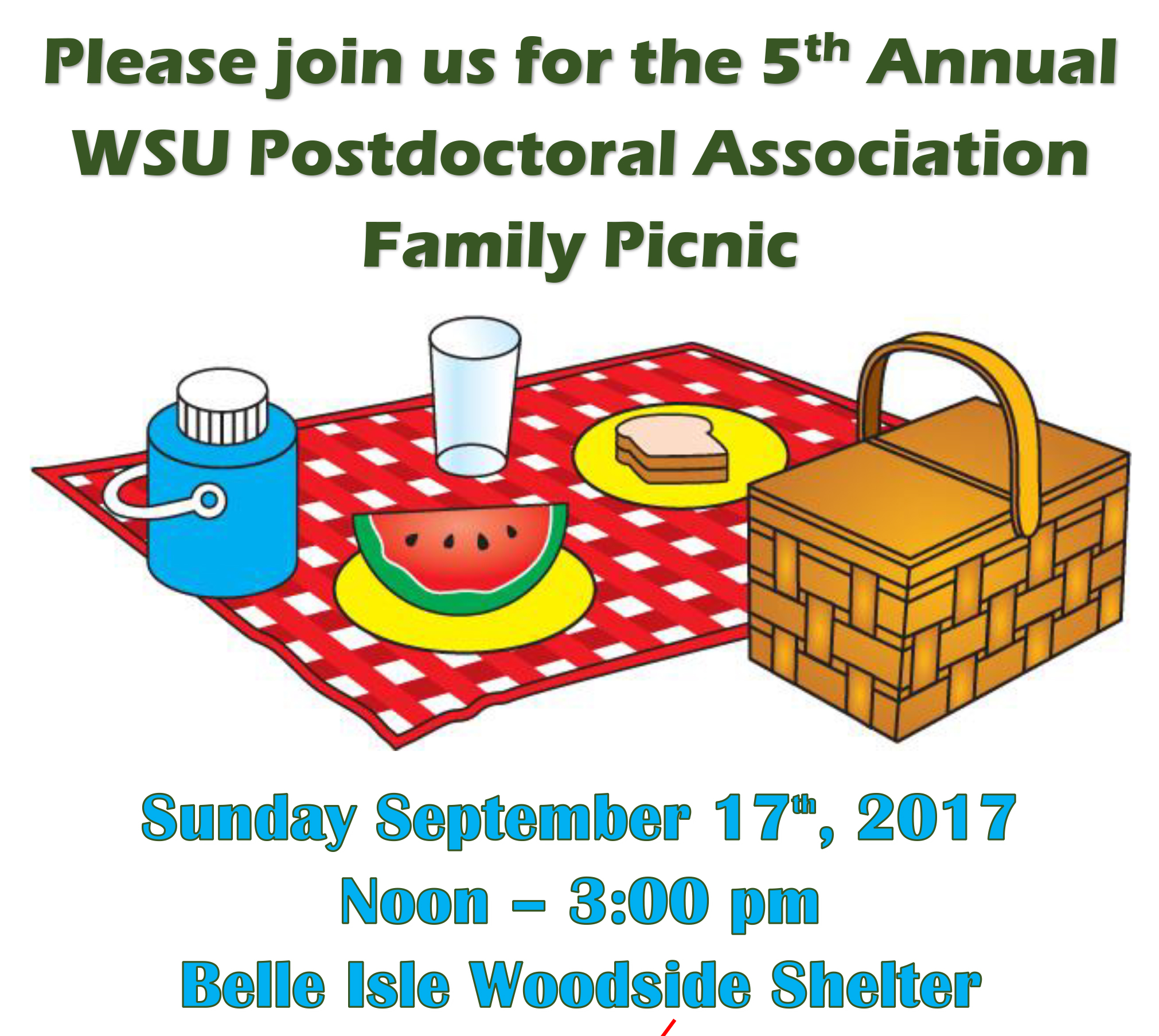 Sept. 17: WSU Postdoctoral Association Annual Picnic