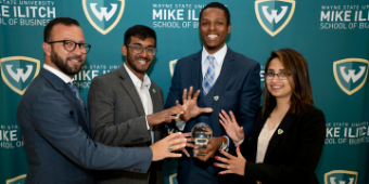 Ilitch Business students win prize as they gain real-world investment experience