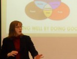 Graduate business students examine workplace sustainability issues in new course