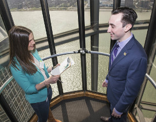 Elevator Pitch Competition sends Wayne State business students straight to the top