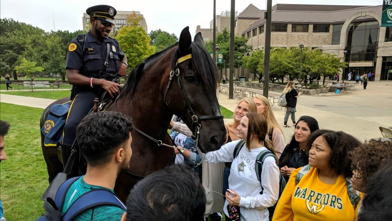 Officer saddles up, builds community connections