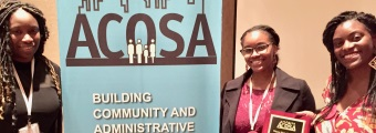 The School of Social Work's Association of Black Social Workers (ABSW) was chosen as a co-recipient of the Association for Community Organization and Social Administration's 2017 Outstanding Student Award