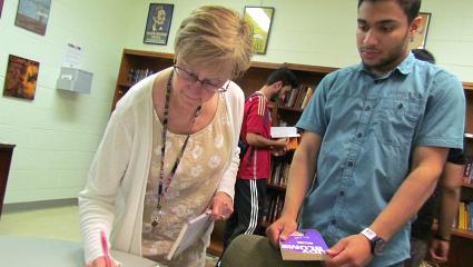 English Language Institute library helps international students improve reading skills