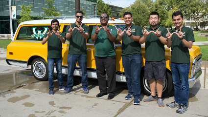 WSU joins Chevrolet at the classic car show on Woodward