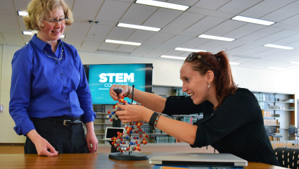 STEM Commons provides mentoring and camaraderie to students, faculty