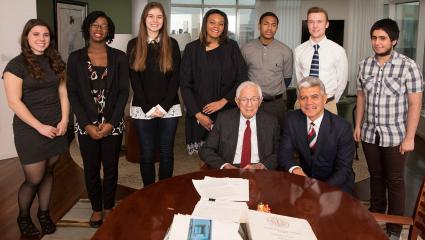 Philanthropist Mort Harris invests in future leaders of medicine at Wayne State
