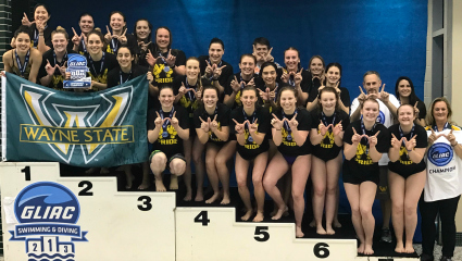 Women's swimming and diving wins 11th GLIAC Championship