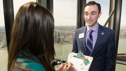 Ilitch School's Elevator Pitch Competition returns to RenCen