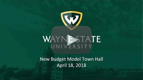 New Budget Model Town Hall Meeting - April 18, 2018