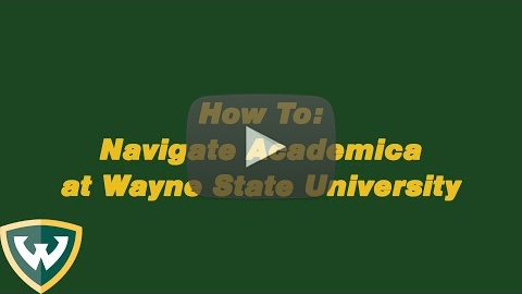 Navigating your Academica account